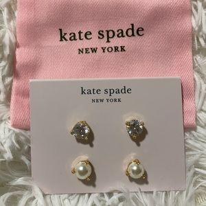 Kate Spade 2 Earring Set New